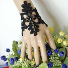 Sexy Belly dance Rhinestone cross gothic Black Lace gothic slave Bracelet BR356