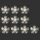 10 pcs 18 mm Repair Faux Pearl sew Czech Rhinestone repair dress button BN40
