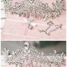 Huge Rhinestone crystal queen crown Pageant Princess Prom Tiara dangle HR271