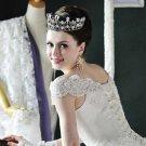 Bridal crystal Rhinestone queen princess Pageant huge crown tiara NR445T
