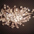 Bridal Vintage Style Corsage Czech Crystal Rhinestone Brooch pin PI74