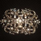 Bridal Cake topper Crystal Corsage Czech Rhinestone Brooch pin PI506