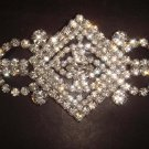 Bridal dress Corsage Czech crystal Rhinestone Brooch pin PI256