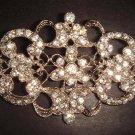Bridal Vintage Style Corsage Czech crystal Rhinestone Brooch pin Pi202