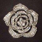 Bridal Tiny rosette crystal Corsage Czech Rhinestone Brooch pin PI467