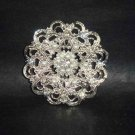 Bridal crystal Corsage Czech cake topper Rhinestone Brooch pin PI502