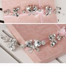 Bridal Rhinestone crystal Butterfly Adjustable forehead band Tiara HR291