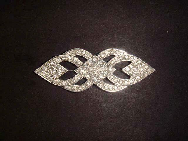 Bridal dress scarf decoration vintage style Corsage Rhinestone Brooch pin  PI473