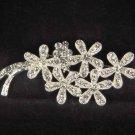 Bridal crystal Corsage Czech Flower cake Rhinestone Brooch pin PI388