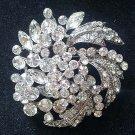 Bridal crystal Leave Corsage Czech Rhinestone brooch pin PI595