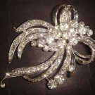 Bridal Rhinestone Corsage Czech Bling Brooch pin PI371