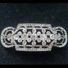 Bridal vintage style Corsage Czech crystal Rhinestone brooch pin PI593