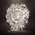 Bridal vintage style Corsage Czech Rhinestone Brooch pin PI236