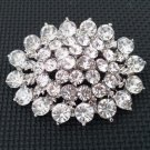 Bridal ellipse oval crystal Corsage CzechRhinestone Brooch pin PI603