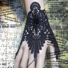 Gothic Lolita Sexy Flower black lace tattoo Belly dance slave bracelet BR341