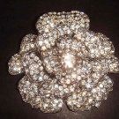 Bridal Flower Corsage Czech Rhinestone crysytal Brooch pin PI280