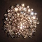 Bridal Vintage Style Bling Corsage Czech  Rhinestone Brooch pin PI181