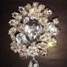 Bridal Dress Corsage Czech Rhinestone Brooch pin PI260