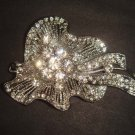 Bridal dress cake topper Corsage Czech Rhinestone Brooch pin PI469