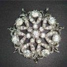 Bridal Vintage style Corsage Czech Crystal Rhinestone Brooch pin PI02