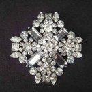 Bridal cake topper BLING Corsage Czech crystal Rhinestone Brooch pin PI441