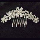 Bridal Crystal Rhinestone Headpiece Flower Hair tiara Comb RB660