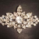 Bridal bling Corsage Vintage style crystal Czech Rhinestone Brooch pin PI277
