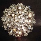 Bridal Vintage Style crystal Corsage Czech Rhinestone bling Brooch pin PI225