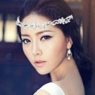 Bridal Rhinestone crystal crown hair forehead band Headpiece HR346