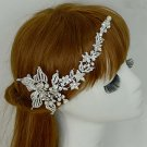 Bridal Crystal Rhinestone Faux pearl Flower Headpiece Hair tiara Clip RB641