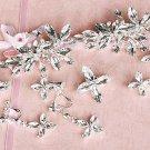 8 items Bridal Rhinestone crystal earring Topknot forehead Headpiece clip HR284
