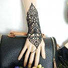 Sexy Belly dance Rhinestone Bohemian gothic Black butterfly slave Bracelet BR357