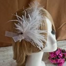 Bridal Prom lace feather dance Hair tiara clip BA193