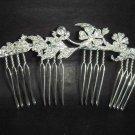 Bridal Rhinestone crystal silver tone clear Hair Comb RB297