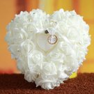 Bridal Heart Artificial Rose flower ring pillow cushion ring holder box BA202