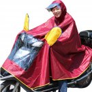 XXL motorcycle motorbike motor bicycle Adult Unisex hood waterproof raincoat CA2