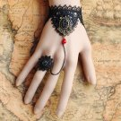 Gothic Lolita Sexy Bow black Belly dance slave bracelet - thin hand BR360