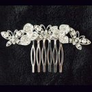2 pcs Bridal Crystal Rhinestone Headpiece Butterfly Hair tiara Comb RB657
