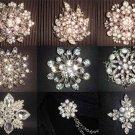 HANDMADE Wedding Brooch Bouquet Artificial hydrangea Flower Faux pearl Posy WB19