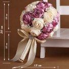 HANDMADE 15 cm Wedding Brooch Bouquet Artificial Flower Faux pearl Posy WB12