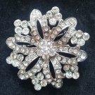 Bridal vintage style Corsage Czech crystal Rhinestone brooch pin PI594