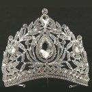 Bridal Rhinestone Queen dangle Crown forehead Maang tikka Headpiece HR377