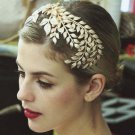 Bridal Gold Vine Leaf Gatsby Inspired hair comb headpiece prom RB675