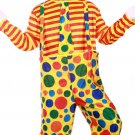 Masquerade Costume Party Clown Colorful Circus Adult top and pants clothes CC1