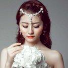 Bridal Rhinestone head chain Adjustable forehead band headpiece Hair Tiara HR342