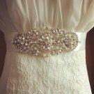 Faux Pearl Bridal Sash Rhinestone waist Sash Wedding applique Dress Belt HR405