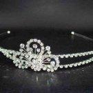 Bridal Silver tone Wedding Crystal Clear Rhinestone Headband Tiara HR05