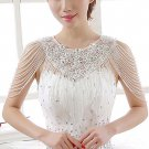 Bridal collar acrylic Rhinestone shoulder deco bib Halter large necklace NR501