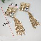 2 pcs Bow gold Bridal Rhombus dangle Repair Rhinestone bag Shoe Charm SA36