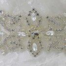 Crystal Bridal Sash Rhinestone waist Sash Wedding applique Dress Belt HR430